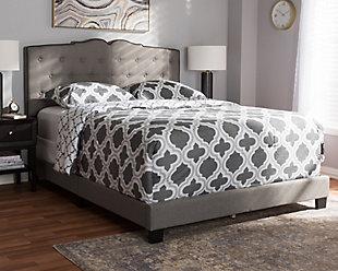 Vivienne King Upholstered Bed, , rollover