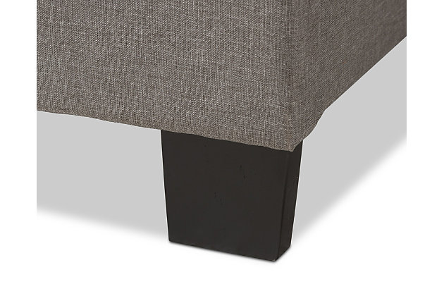 Vivienne Queen Upholstered Bed, Gray, large
