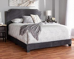 Velvet Full Upholstered Bed, , rollover