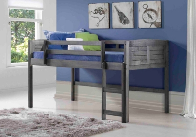 Picture of: Kids Louvered Twin Low Loft Bed Ashley Furniture Homestore