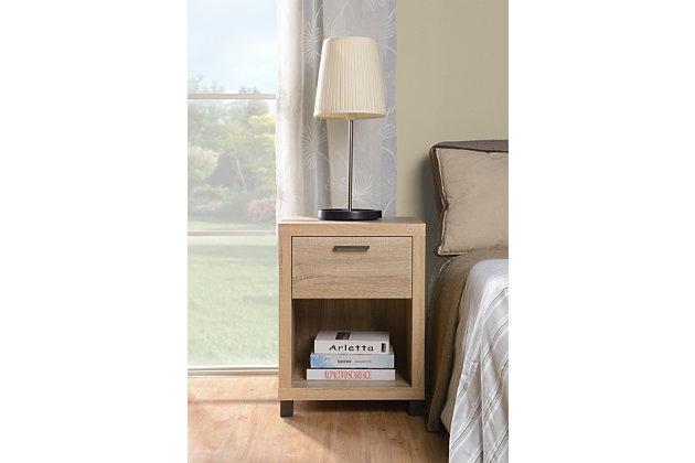 1 Drawer Nightstand, , large