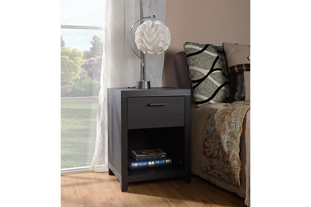 1 Drawer Nightstand, , large