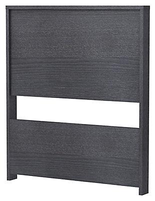 2 Panel Twin Headboard, Onyx, large