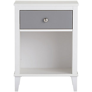 Two Tone Monarch Hill Poppy Nightstand, Gray, rollover