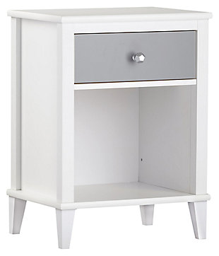 Two Tone Monarch Hill Poppy Nightstand, Gray, large