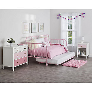 Two Tone Monarch Hill Poppy Nightstand, Pink, rollover