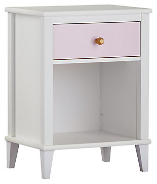 Two Tone Monarch Hill Poppy Nightstand, Pink, large