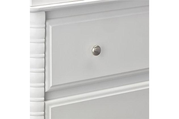 3 Drawer Rowan Valley Linden White Dresser, , large