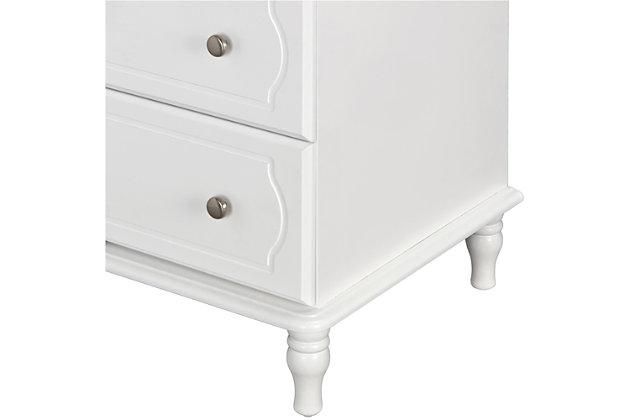 4 Drawer Rowan Valley Laren White Dresser, , large