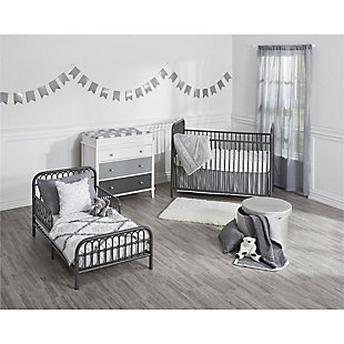 Metal Monarch Hill Ivy Gray Toddler Bed, , rollover