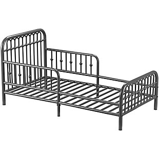 Metal Monarch Hill Ivy Gray Toddler Bed, Graphite, large