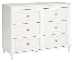 6 Drawer Piper Cream Dresser, , large