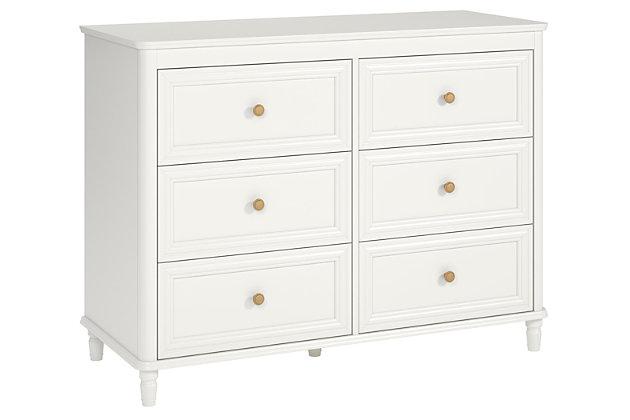 6 Drawer Piper Cream Dresser, , large
