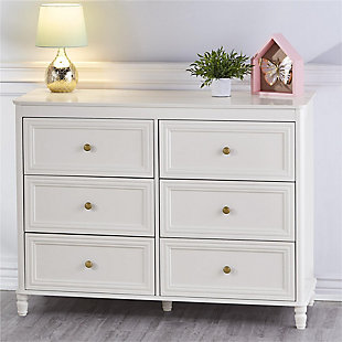 6 Drawer Piper Cream Dresser, , rollover