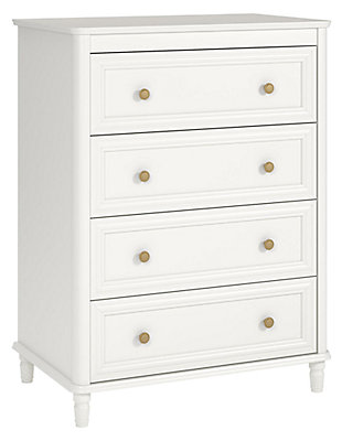 4 Drawer Piper Cream Dresser, , large