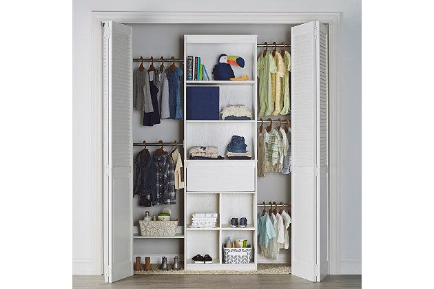 Organization Grow with Me White Closet, , large