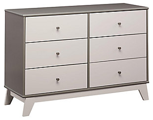 6 Drawer Rowan Valley Flint Gray Dresser, Gray, large