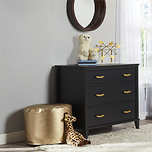 3 Drawer Monarch Hill Hawken Black Dresser, , large