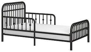 Metal Monarch Hill Ivy Black Metal Toddler Bed, Black, large