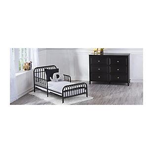 Metal Monarch Hill Ivy Black Metal Toddler Bed, Black, rollover