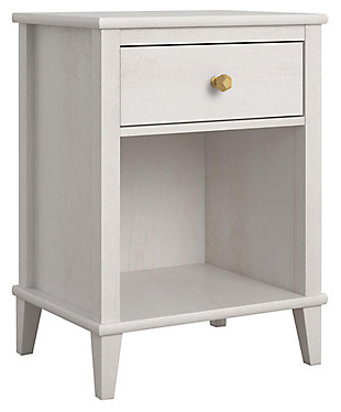 Woodgrain Finish Monarch Hill Poppy Ivory Oak Nightstand, , large