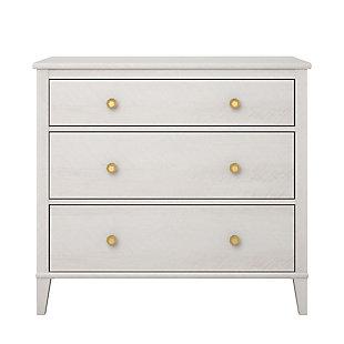 Woodgrain Finish Monarch Hill Poppy Ivory Oak Dresser, , large