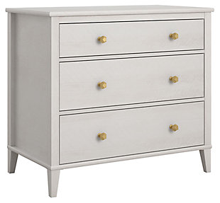Woodgrain Finish Monarch Hill Poppy Ivory Oak Dresser, , large