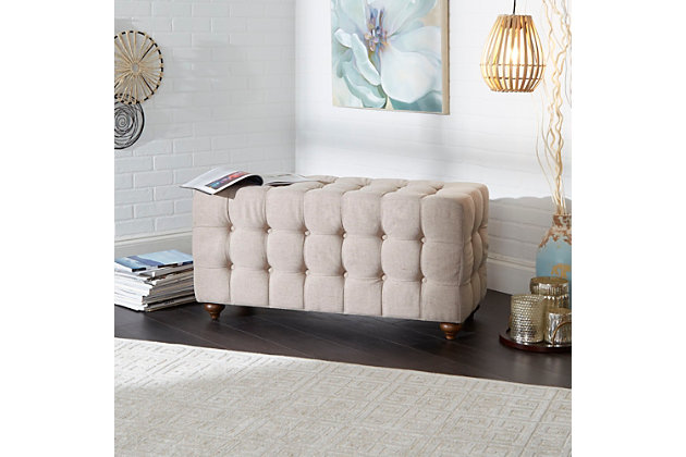 Tufted Upholstered Bench, , large