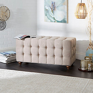 Tufted Upholstered Bench, , rollover