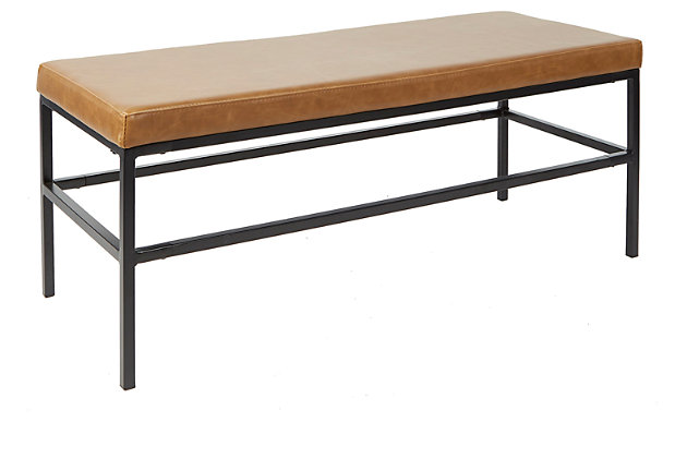 Upholstered Bench with Metal Frame, , large