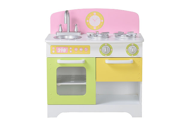 Kids Play Kitchen and Refrigerator (Set of 2), , large