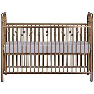 Little Seeds Monarch Hill Ivy Metal Crib, Gold, large
