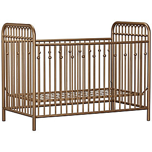 Little Seeds Monarch Hill Ivy Metal Crib, , large