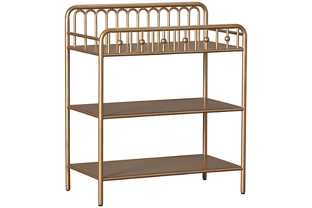 Little Seeds Monarch Hill Ivy Metal Changing Table, Gold, large