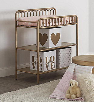 Little Seeds Monarch Hill Ivy Metal Changing Table, Gold, rollover