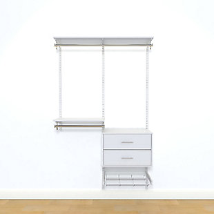 "Organized Living freedomRail® Ultimate Adjustable Closet Kit, 48""-52"", , rollover"