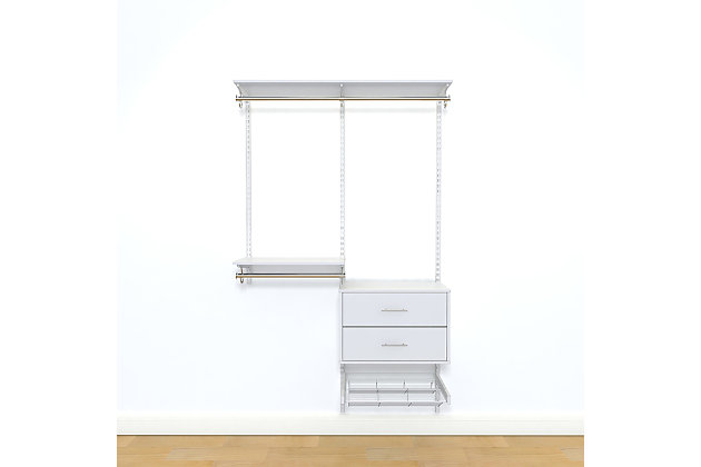 "Organized Living freedomRail® Ultimate Adjustable Closet Kit, 48""-52"", , large"