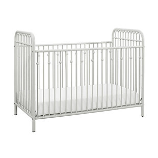 Little Seeds Monarch Hill Ivy Metal Crib, White, large