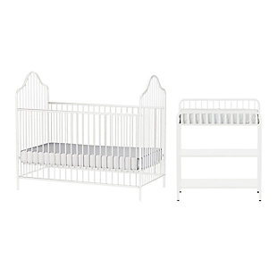 Little Seeds Rowan Valley Lanley Metal Crib and Changing Table Bundle, , large