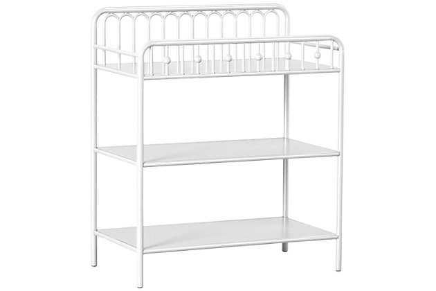 Little Seeds Monarch Hill Ivy Metal Changing Table, White, large