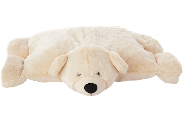 Kids Plush Bear Animal Pillow, , large