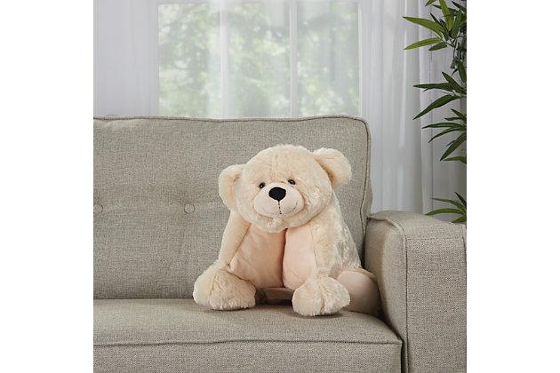 Kids Plush Bear Animal Pillow, , large