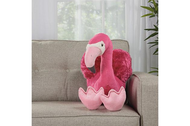 Kids Plush Flamingo Animal Pillow, , large
