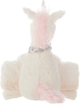 Kids Plush Unicorn With Blanket Animal Pillow, , large