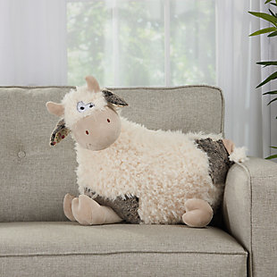 Kids Plush Cow Animal Pillow, , large