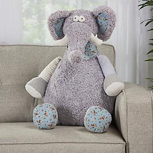 Kids Plush Elephant Animal Pillow, , large