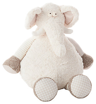 Kids Plush Elephant Animal Pillow, , large