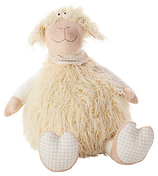 Kids Plush Shaggy Lamb Animal Pillow, , large