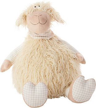 Kids Plush Shaggy Lamb Animal Pillow, , rollover