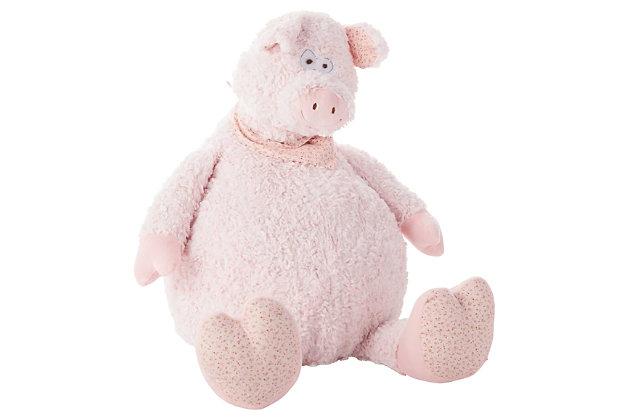 Kids Plush Pig Animal Pillow, , large